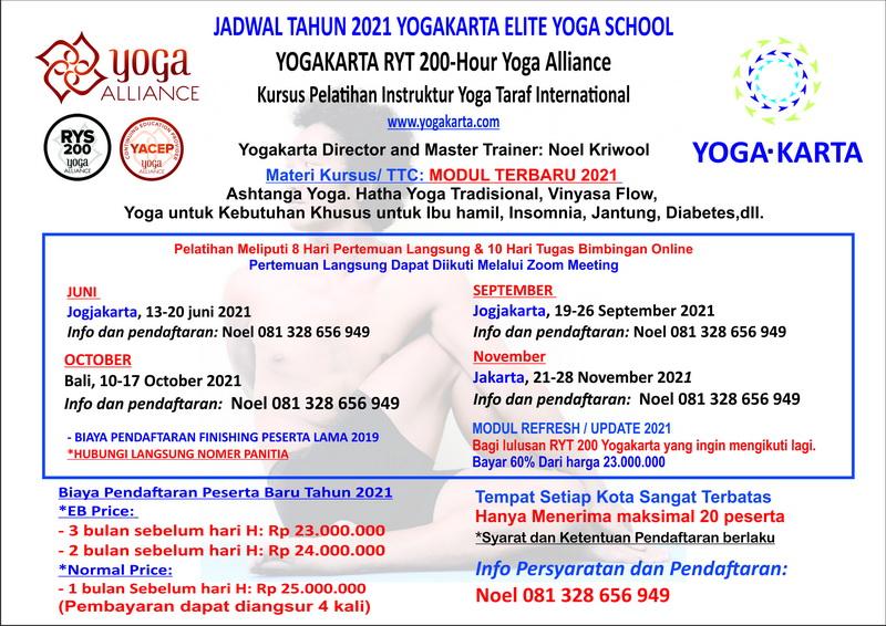 Jadwal TTC pelatihan Instruktur Yogakarta 2021